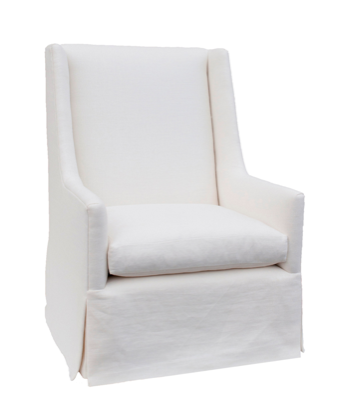 Centuries ago the wing back chair served the purpose of protecting one from drafts. The modern version does the same, but is also  comfortable for reading because it has lower arms to support your forearms. The high back supports your head and neck and wings provide comfortable support.