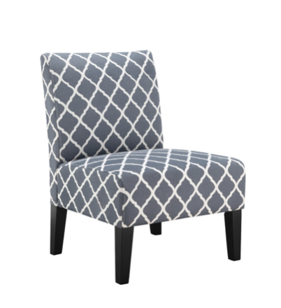 The slipper chair is the perfect occasional chair and accent piece.  Whether in the living room or bedroom as additional conversational seating it provides comfort and ease.  Using accent colors or patterns on small chairs is a fun way to make your room come alive.